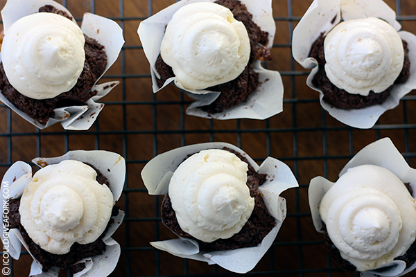 Gluten Free Caramel Filled Brownie Bites with Buttercream