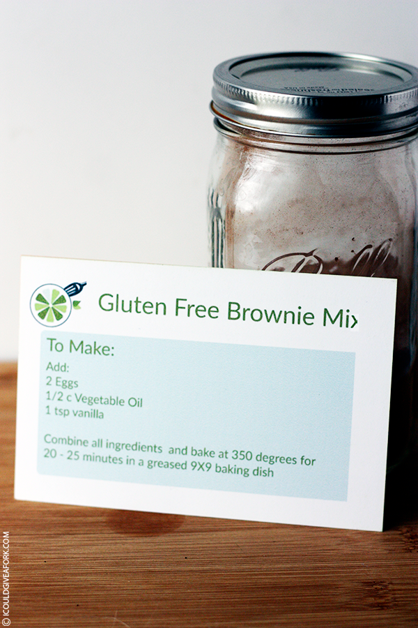 homemade gluten free brownie mix