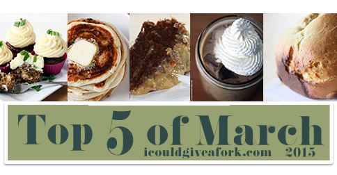Top 5 Gluten Free Recipes of March 2015