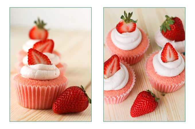 The best gluten free strawberry cupcakes