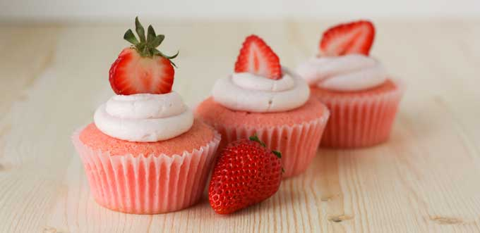GF Strawberry Cupcakes